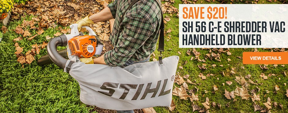 Save $20 on SH 56 C-E Shredder Vac/Handheld Blower